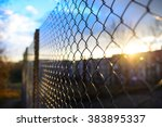 Fence With Metal Grid In...