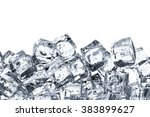 heap of ice cubes on white... | Shutterstock . vector #383899627