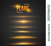 illustration of vector flare... | Shutterstock .eps vector #383908603