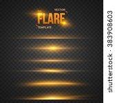 illustration of vector flare... | Shutterstock .eps vector #383908603