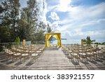 wedding set ups | Shutterstock . vector #383921557