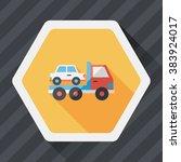 transportation truck flat icon... | Shutterstock .eps vector #383924017