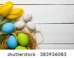easter background with colorful ... | Shutterstock . vector #383936083