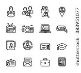 career  job icon set. line... | Shutterstock .eps vector #383951077