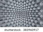empty dark abstract concrete... | Shutterstock . vector #383960917