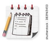 doodle notebook | Shutterstock .eps vector #383965453
