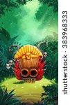 jungle shamans user interface... | Shutterstock .eps vector #383968333