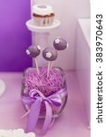 lilac decorative cakepops and a ... | Shutterstock . vector #383970643