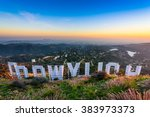 los angeles  california  ... | Shutterstock . vector #383973373