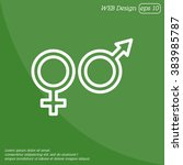 web line icon. gender symbol ... | Shutterstock .eps vector #383985787