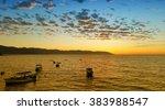 beautiful sunset in puerto... | Shutterstock . vector #383988547