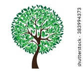 Vector Illustration Of Tree On...