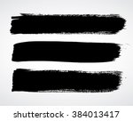 vector brush strokes | Shutterstock .eps vector #384013417