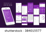 material design ui  ux screens  ... | Shutterstock .eps vector #384015577