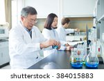 people doing chemical... | Shutterstock . vector #384015883