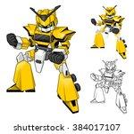 robot truck cartoon character...   Shutterstock .eps vector #384017107