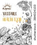 food menu design vegetable...   Shutterstock .eps vector #384024103