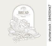 bread. hand drawn vector... | Shutterstock .eps vector #384050467