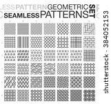 black and white geometric... | Shutterstock .eps vector #384052153