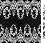 seamless lace pattern  flower... | Shutterstock .eps vector #384058417