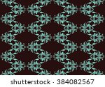 vintage abstract geometric... | Shutterstock .eps vector #384082567