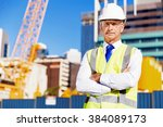 engineer builder at... | Shutterstock . vector #384089173