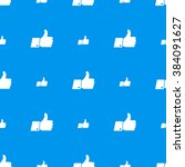 a lot of thumbs up white icons... | Shutterstock . vector #384091627