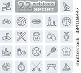 sport symbols icons. modern web ... | Shutterstock . vector #384106447