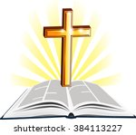 Christian Holy Writ With Gold...