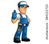 Handyman Wearing Work Clothes...
