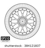 car alloy front view   eps10... | Shutterstock .eps vector #384121837