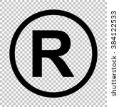 registered trademark sign. flat ... | Shutterstock . vector #384122533