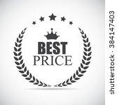 best price label illustration... | Shutterstock .eps vector #384147403