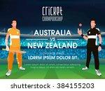australia vs new zealand ...   Shutterstock .eps vector #384155203