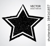 textured star used for stamps ... | Shutterstock .eps vector #384161857
