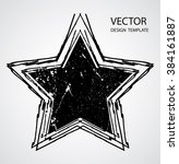 textured star used for stamps ... | Shutterstock .eps vector #384161887