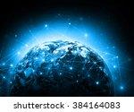 internet concept of global... | Shutterstock . vector #384164083