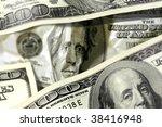Close Up Shot Of Dollar Bill...
