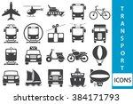 transport icons | Shutterstock . vector #384171793
