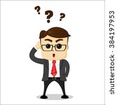 manager character has a... | Shutterstock .eps vector #384197953