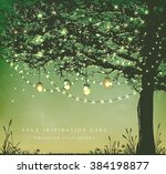 hanging decorative holiday... | Shutterstock .eps vector #384198877