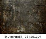 old dark wall. horror... | Shutterstock . vector #384201307