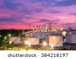 refinery night with light in... | Shutterstock . vector #384218197