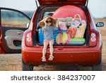 vacation  travel   family ready ... | Shutterstock . vector #384237007
