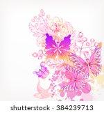 fantasy watercolor vector...   Shutterstock .eps vector #384239713