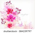 fantasy watercolor vector...   Shutterstock .eps vector #384239797