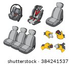 illustration of various car... | Shutterstock .eps vector #384241537