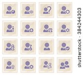 users blue icons on old paper. | Shutterstock .eps vector #384244303
