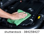 car detailing series   cleaning ... | Shutterstock . vector #384258427