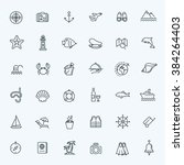 outline web icon set   journey  ... | Shutterstock .eps vector #384264403